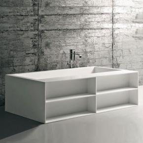 antoniolupi biblio52 badewanne mit ablage und verblendung mit 3 seitiger verblendung. Black Bedroom Furniture Sets. Home Design Ideas