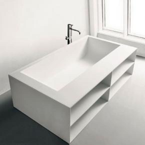 antoniolupi biblio badewanne mit armaturenrand ablage und verblendung mit 2 seitiger. Black Bedroom Furniture Sets. Home Design Ideas
