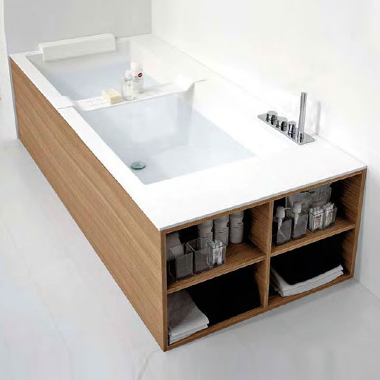 antoniolupi biblio badewanne ablage rechts 4 seitige verblendung rovere naturale biblio44dx b. Black Bedroom Furniture Sets. Home Design Ideas