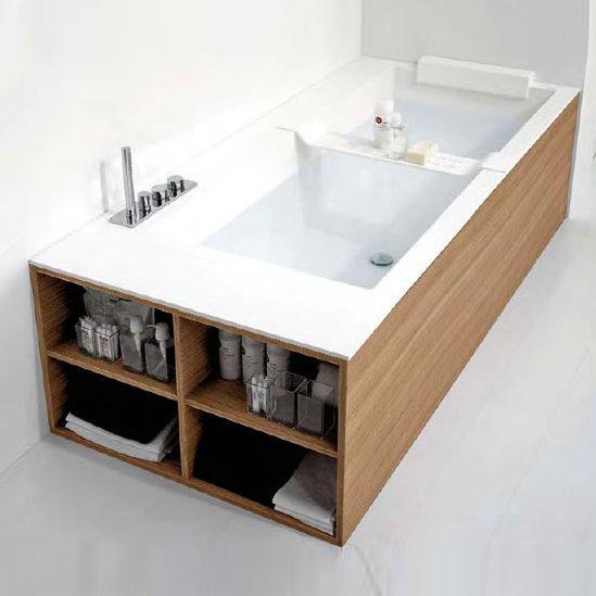 antoniolupi biblio badewanne ablage links 4 seitige verblendung rovere canapa biblio44sx b. Black Bedroom Furniture Sets. Home Design Ideas