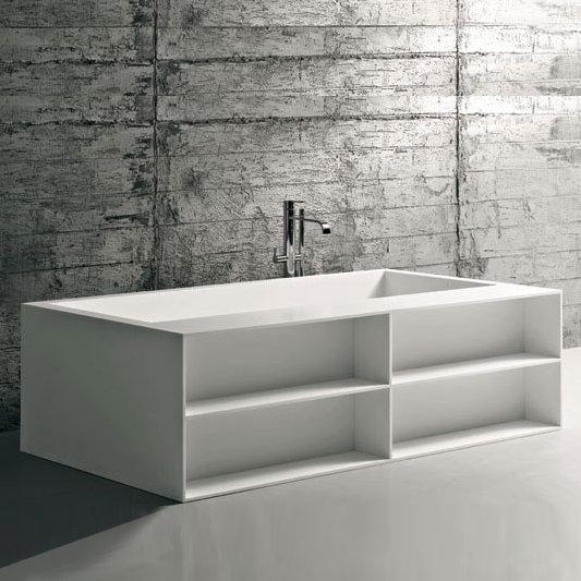 Antoniolupi biblio52 badewanne mit ablage und verblendung for Ablage badewanne