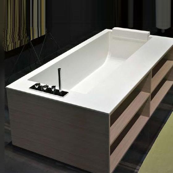 antoniolupi biblio badewanne mit ablage armaturenrand links rovere naturale biblio64sx b. Black Bedroom Furniture Sets. Home Design Ideas