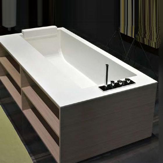 antoniolupi biblio badewanne mit ablage armaturenrand rechts rovere grigio biblio64dx b. Black Bedroom Furniture Sets. Home Design Ideas