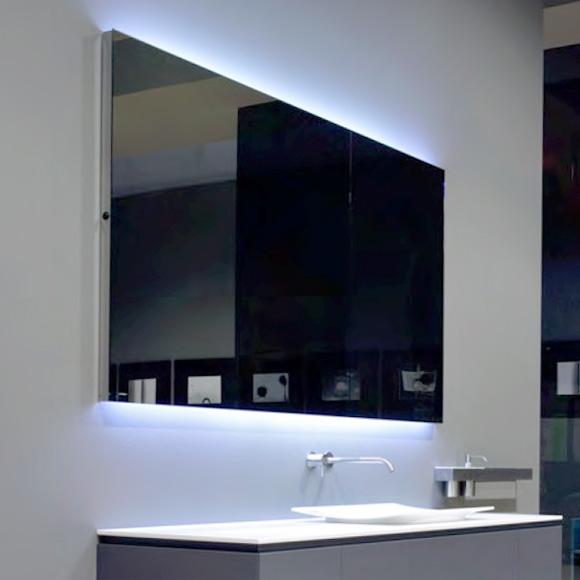 antoniolupi flash100 spiegel mit polierter kante und wei er led beleuchtung breite 72 cm. Black Bedroom Furniture Sets. Home Design Ideas