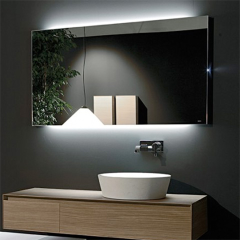 antoniolupi flash75 rechteckiger spiegel mit led. Black Bedroom Furniture Sets. Home Design Ideas