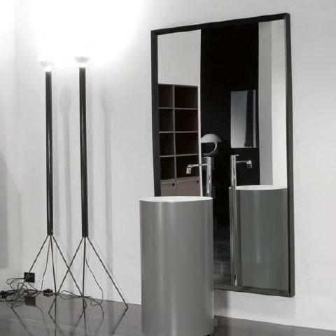 antoniolupi sfoglia rechteckiger spiegel mit rahmen weiss gl nzend lackiert sfoglia9054 d gw. Black Bedroom Furniture Sets. Home Design Ideas