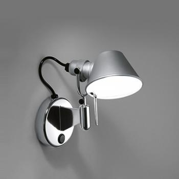artemide tolomeo micro faretto led wandleuchte mit dimmer. Black Bedroom Furniture Sets. Home Design Ideas