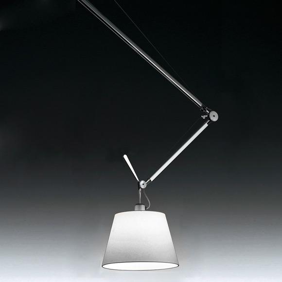 artemide tolomeo sospensione decentrata satin. Black Bedroom Furniture Sets. Home Design Ideas