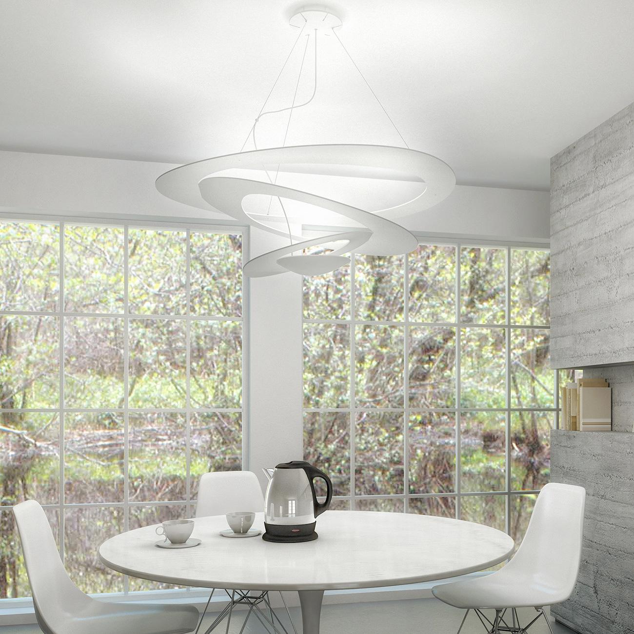 artemide pirce sospensione led pendelleuchte 1254110a. Black Bedroom Furniture Sets. Home Design Ideas