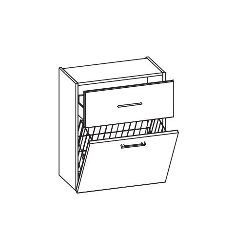 artiqua midischrank mit 1 auszug und 1 w schekippe front hacienda schwarz quer korpus hacienda. Black Bedroom Furniture Sets. Home Design Ideas