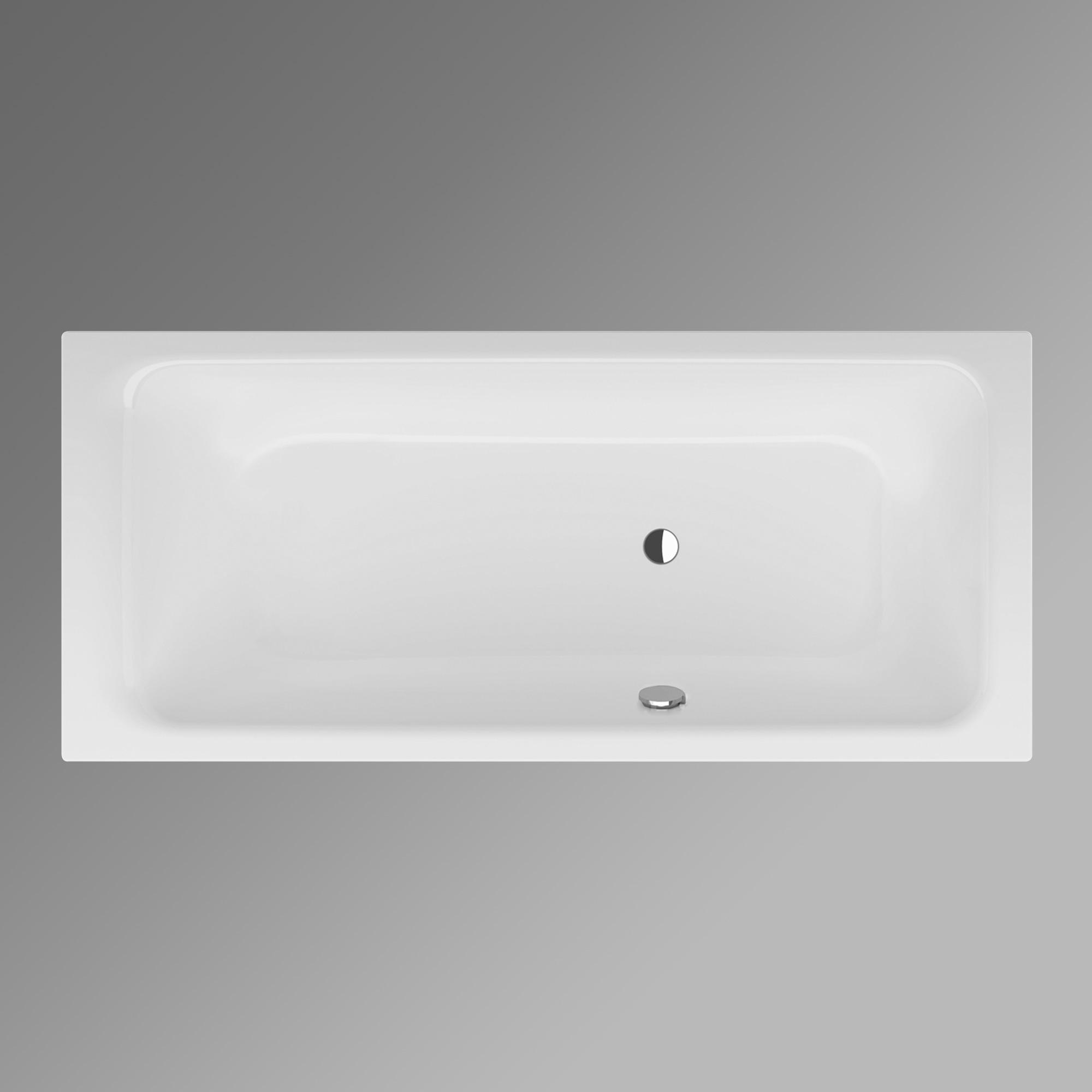 Bette select rechteck badewanne seitlicher berlauf vorne for Sechseck badewanne stahl
