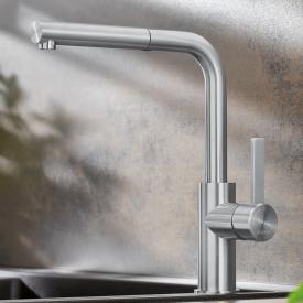 Blanco Lanora-S Einhebel-Küchenarmatur mit Augszugsauslauf