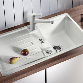 blanco lexa 45 s sp le b 86 t 50 cm becken silgranit puradur ii wei 514654 reuter onlineshop. Black Bedroom Furniture Sets. Home Design Ideas