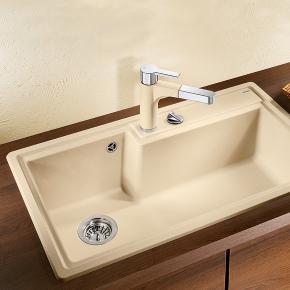 blanco plenta sp le b 86 t 50 cm becken silgranit puradur ii champagner 514777 reuter. Black Bedroom Furniture Sets. Home Design Ideas