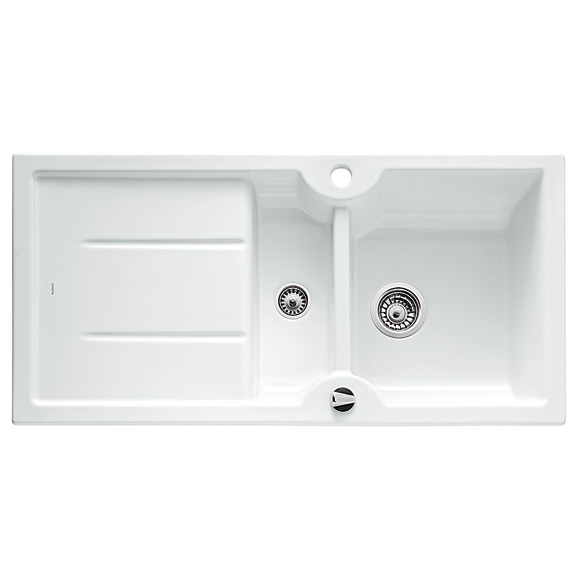 blanco idessa 6 s drehbare sp le b 100 t 50 cm becken keramik wei 516001 reuter onlineshop. Black Bedroom Furniture Sets. Home Design Ideas