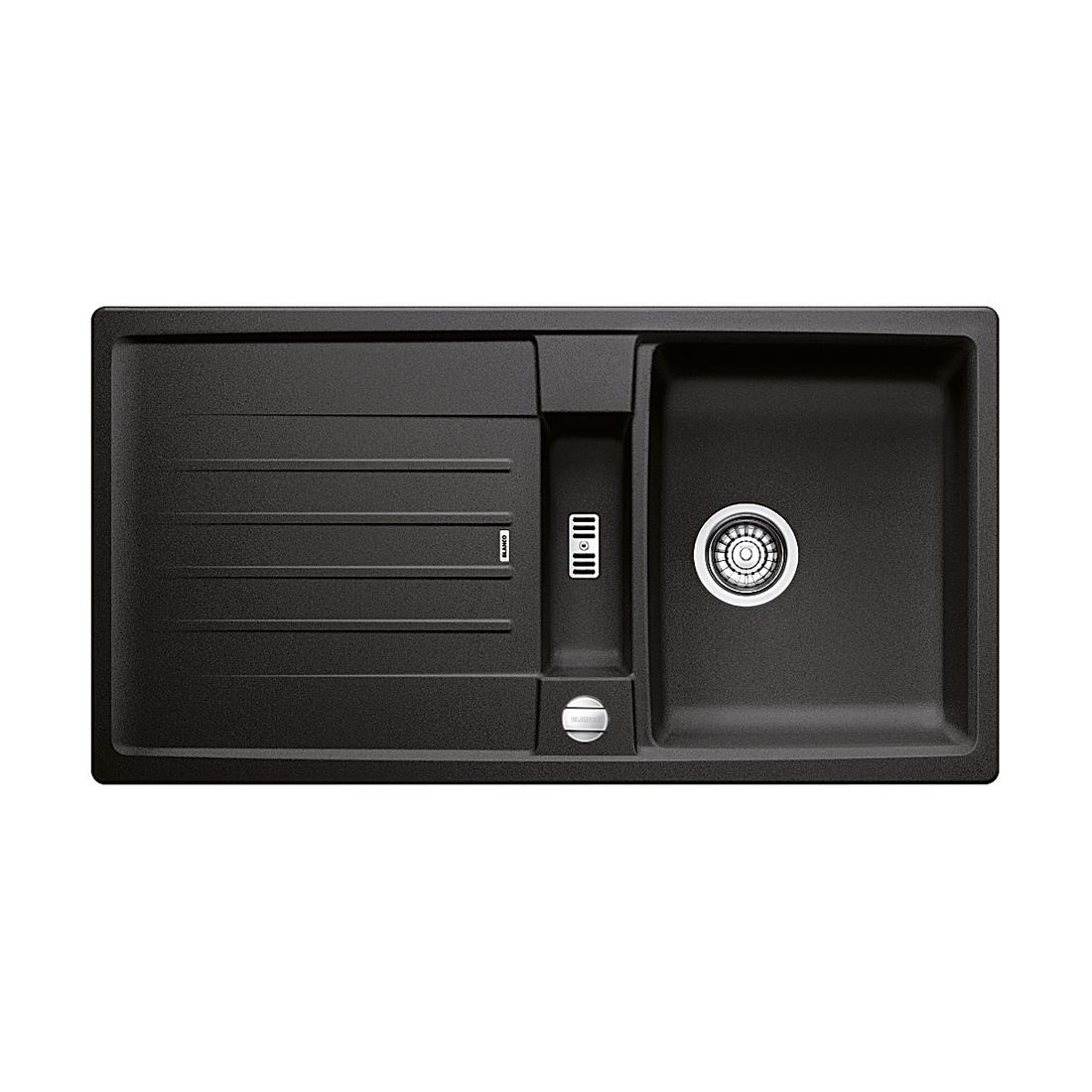 blanco lexa 5 s sp le b 95 t 50 cm becken silgranit puradur ii anthrazit 518641 reuter. Black Bedroom Furniture Sets. Home Design Ideas
