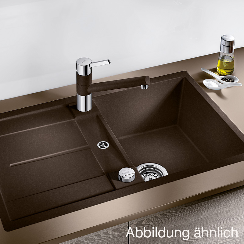 blanco metra 45 s f drehbare sp le b 77 t 49 cm becken silgranit puradur ii jasmin 519084. Black Bedroom Furniture Sets. Home Design Ideas