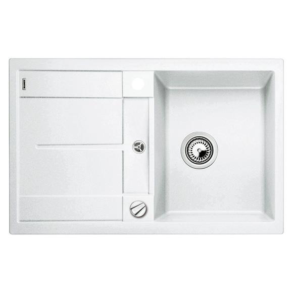 blanco metra 45 s sp le b 78 t 50 cm becken silgranit puradur ii wei 513028 reuter. Black Bedroom Furniture Sets. Home Design Ideas