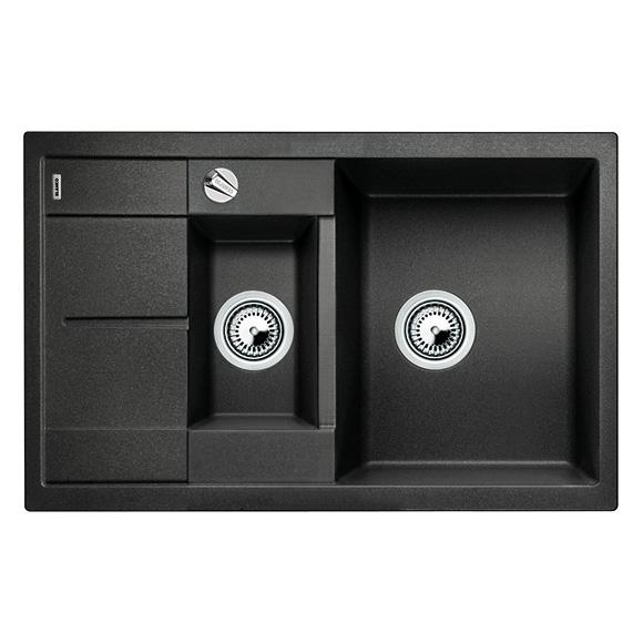 blanco metra 6 s compact sp le b 78 t 50 cm becken silgranit puradur ii anthrazit 513473. Black Bedroom Furniture Sets. Home Design Ideas