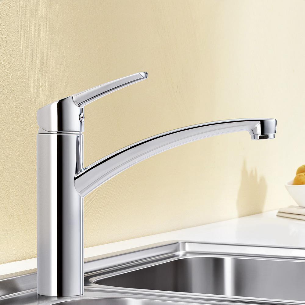 Blanco nea einhebelmischer hochdruck ausladung 205 mm for Blanco küchenarmaturen