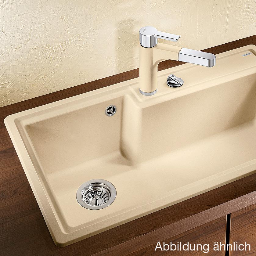 blanco plenta sp le b 86 t 50 cm becken silgranit puradur ii alumetallic 514781 reuter. Black Bedroom Furniture Sets. Home Design Ideas