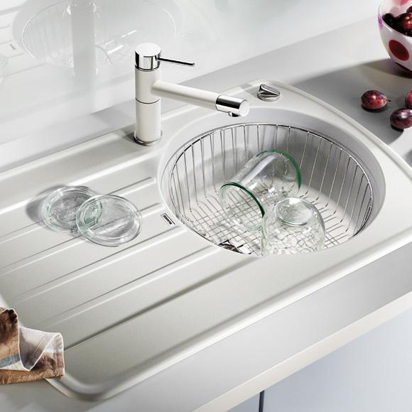 blanco rondoval 45 s sp le b 78 t 50 cm becken silgranit puradur ii alumetallic 515783. Black Bedroom Furniture Sets. Home Design Ideas
