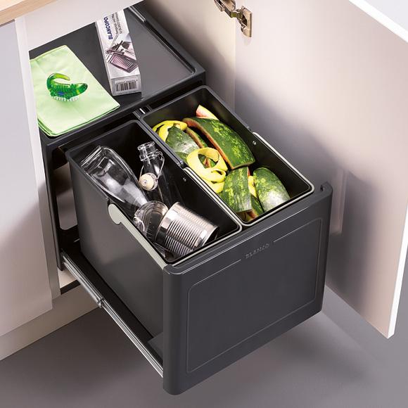 Blanco select button pro 45 2 manuell abfallsammler for Abfallsammler küche