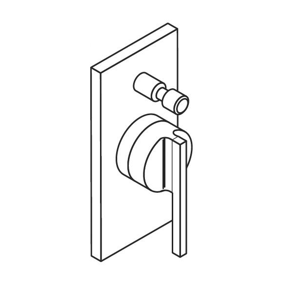 boffi liquid resl05e wandmischer f r badewanne dusche. Black Bedroom Furniture Sets. Home Design Ideas