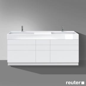 burg crono stehender waschtischunterschrank 6 ausz ge 3 schubladen front wei matt korpus wei. Black Bedroom Furniture Sets. Home Design Ideas