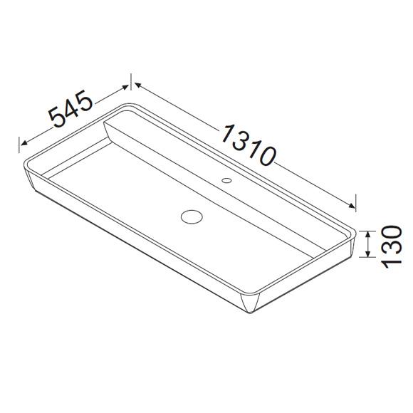 burg bel aufsatz waschtisch wei mwax131c0001 reuter. Black Bedroom Furniture Sets. Home Design Ideas