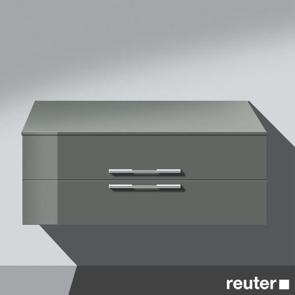 burg bel unterschrank mit 2 ausz gen front grau. Black Bedroom Furniture Sets. Home Design Ideas