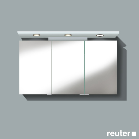 burg cala spiegelschrank mit 3 t ren front verspiegelt korpus wei gl nzend sps121drc40. Black Bedroom Furniture Sets. Home Design Ideas