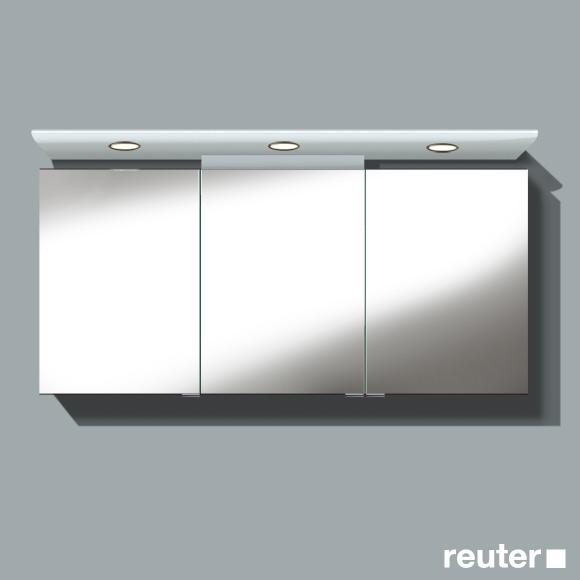 burg cala spiegelschrank mit 3 t ren front verspiegelt korpus wei gl nzend sps151drc40. Black Bedroom Furniture Sets. Home Design Ideas