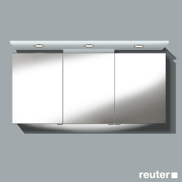 burg cala spiegelschrank mit 3 t ren front verspiegelt korpus wei gl nzend sele150rc40. Black Bedroom Furniture Sets. Home Design Ideas