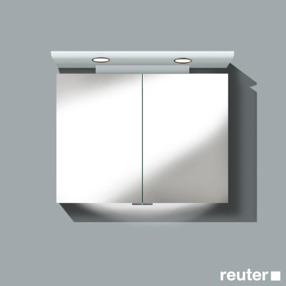 burg cala spiegelschrank mit 2 t ren front verspiegelt korpus wei gl nzend sele090c40. Black Bedroom Furniture Sets. Home Design Ideas