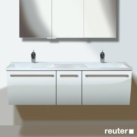 burg cala waschtischunterschrank mit waschtisch und 3 ausz gen front wei hochglanz korpus wei. Black Bedroom Furniture Sets. Home Design Ideas