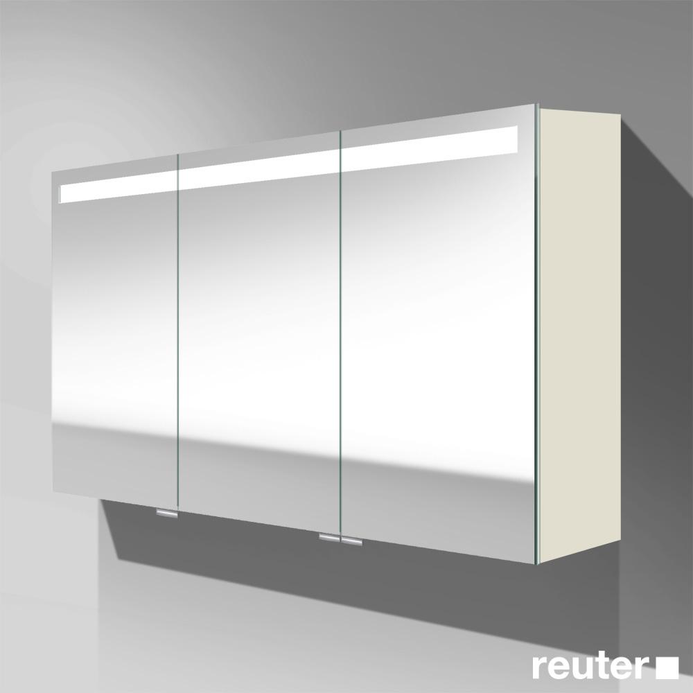 burg crono led spiegelschrank mit 3 t ren front verspiegelt korpus wei matt spfr120f1786. Black Bedroom Furniture Sets. Home Design Ideas