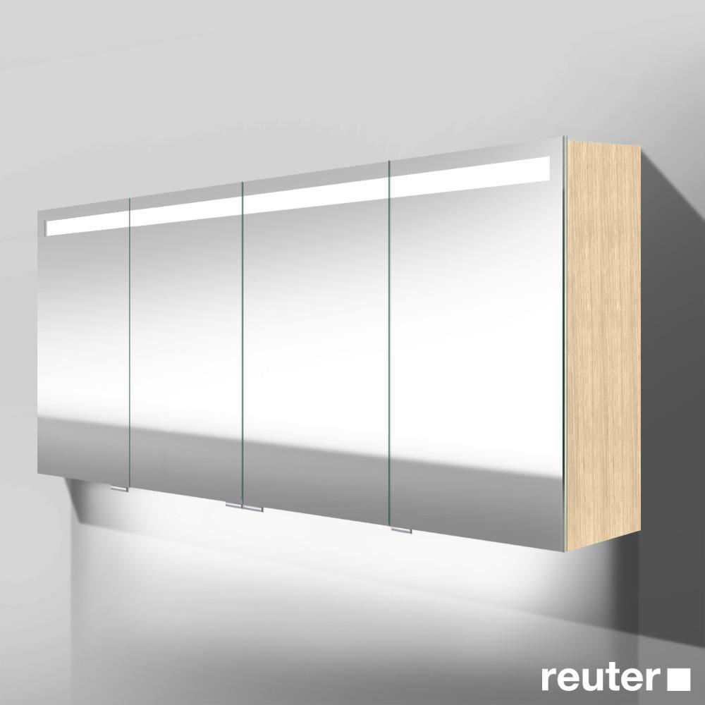 burg crono led spiegelschrank mit waschtischbeleuchtung mit 4 t ren front verspiegelt korpus. Black Bedroom Furniture Sets. Home Design Ideas
