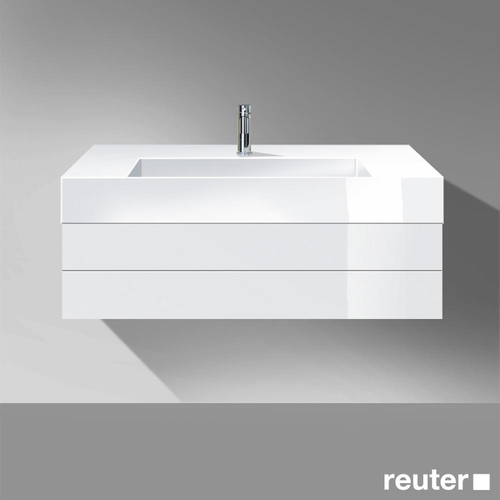 burg crono waschtischunterschrank mit waschtisch 1 auszug front wei hochglanz korpus wei. Black Bedroom Furniture Sets. Home Design Ideas