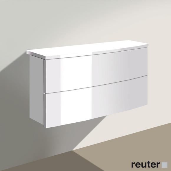 burg ella sideboard mit 2 ausz gen front wei hochglanz. Black Bedroom Furniture Sets. Home Design Ideas