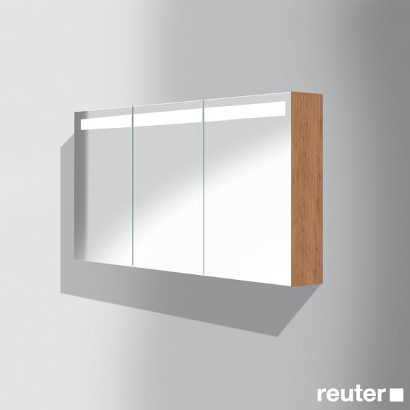 burg pli beleuchteter spiegelschrank b 120 h 64 t 17 cm led beleuchtung front verspiegelt. Black Bedroom Furniture Sets. Home Design Ideas
