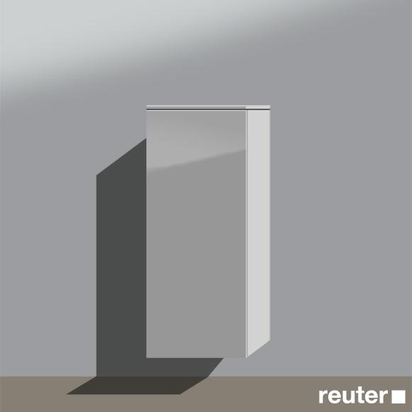 burg pli halbhoher schrank mit 1 t r front grau hochgl nzend korpus grau hochgl nzend. Black Bedroom Furniture Sets. Home Design Ideas