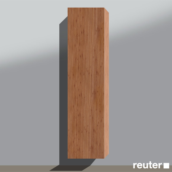 burg pli hochschrank b 40 h 160 t 20 cm 1 t r rechts angeschlagen front bambus natur. Black Bedroom Furniture Sets. Home Design Ideas