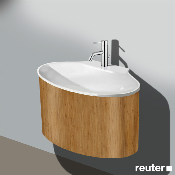 burg pli waschtischunterschrank b 80 h 42 t 54 cm 1 auszug waschtisch wei front bambus. Black Bedroom Furniture Sets. Home Design Ideas