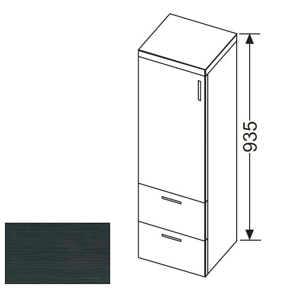 burg sinea halbhoher schrank mit 1 t r und 2 schubladen front hacienda schwarz korpus hacienda. Black Bedroom Furniture Sets. Home Design Ideas