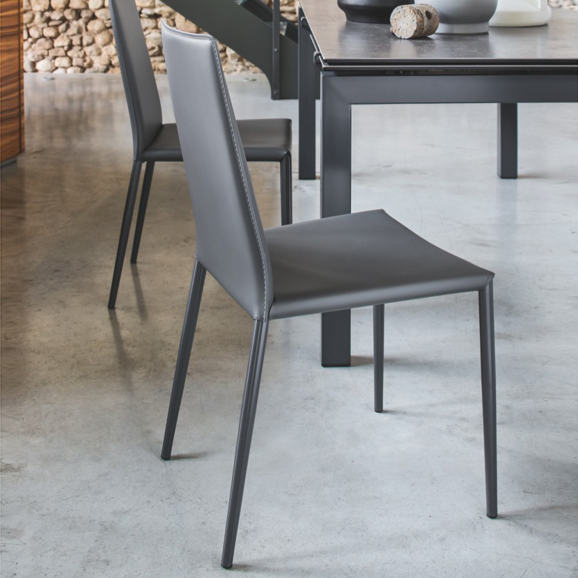 calligaris boheme stuhl b 480 h 900 t 520 mm grau matt grau. Black Bedroom Furniture Sets. Home Design Ideas