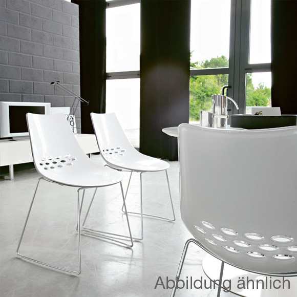 calligaris jam stuhl mit kufengestell. Black Bedroom Furniture Sets. Home Design Ideas