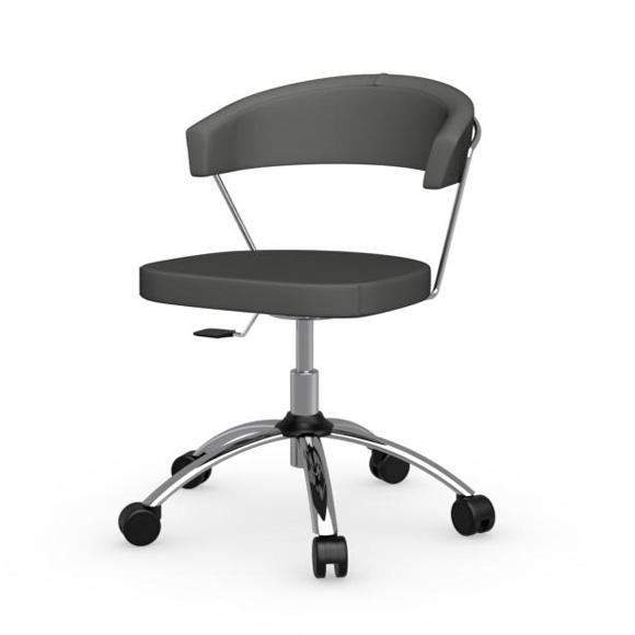 calligaris new york stuhl mit rollen cs 624 gu p77 aja. Black Bedroom Furniture Sets. Home Design Ideas