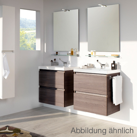 cosmic b box waschbecken mit unterschrank mit 2 schubladen wei matt b05010601157 reuter. Black Bedroom Furniture Sets. Home Design Ideas