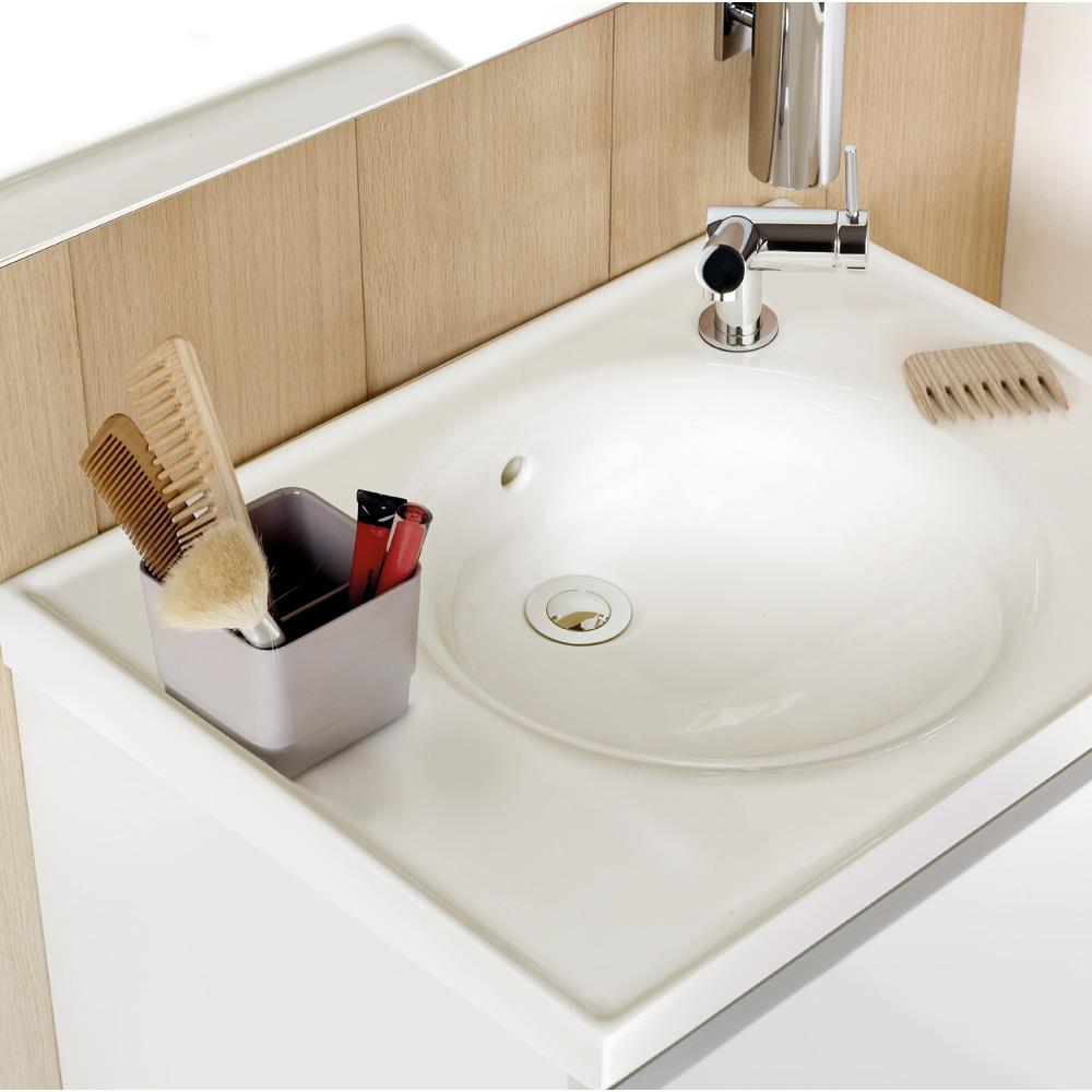 cosmic b box waschbecken mit unterschrank mit 2 schubladen wei matt b05010611157 reuter. Black Bedroom Furniture Sets. Home Design Ideas